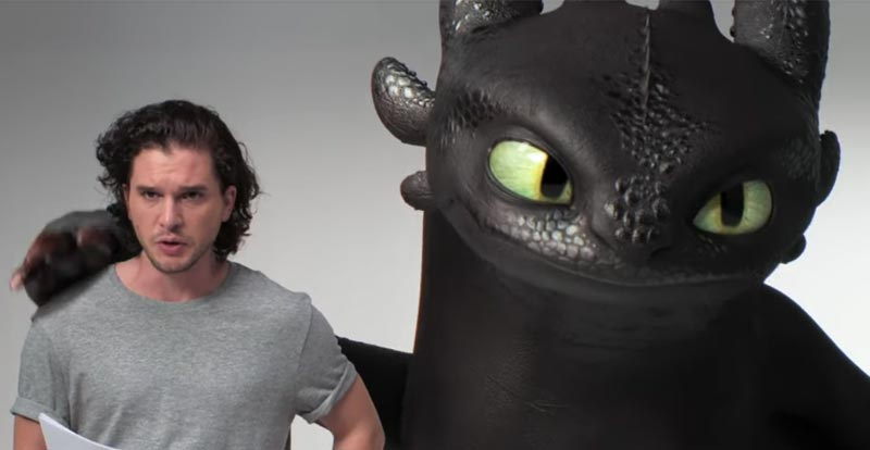 Kit Harington's How to Train Your Dragon audition?