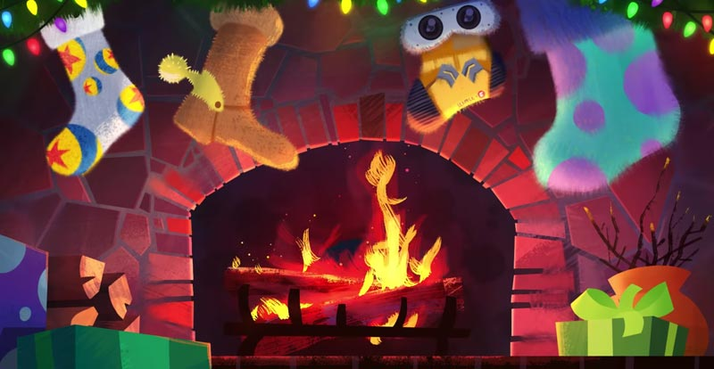 Yule just love this Pixar fireplace