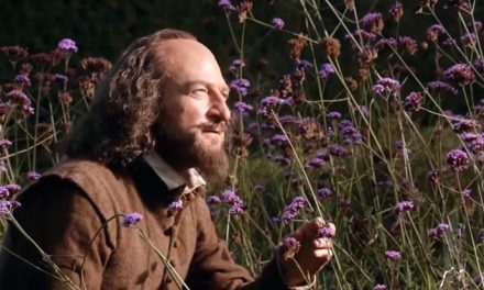 "Shakespeare stops to smell a rose by any other name (""scabiosa"", we think)"