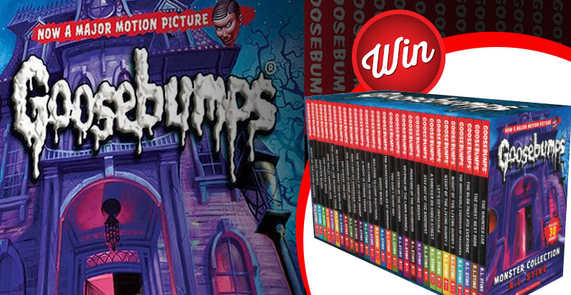 Win one of two epic Goosebumps book collections