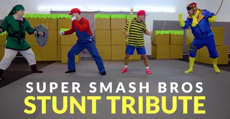 Stunt actors perform Super Smash Bros. Ultimate IRL