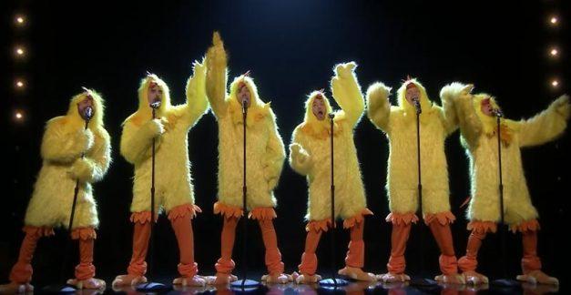 What the cluck?! The Backstreet Boys percuck 'Everybody'