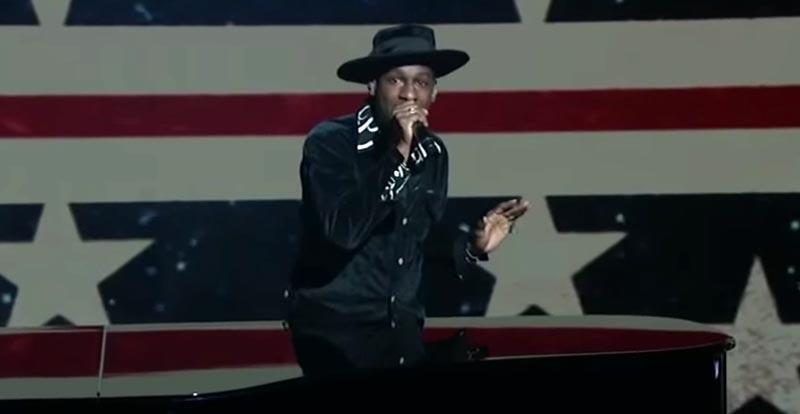 Leon Bridges sings Donald Trump tweets