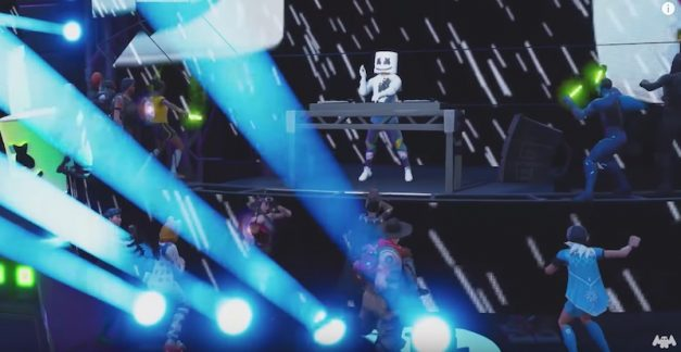 Fortnite's toasty in-game concert with DJ Marshmello