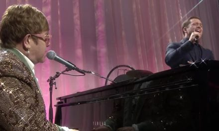 Elton and Taron duet on 'Tiny Dancer'