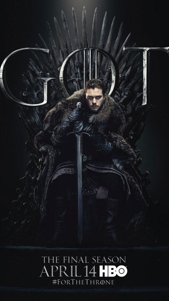 Jon Snow GOT Season 8 character poster