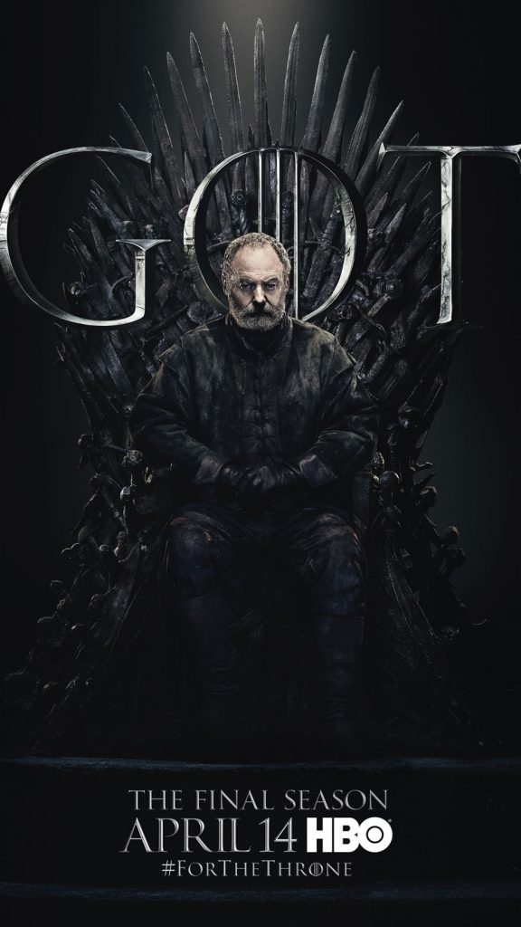Davos Seaworth GOT Season 8 character poster