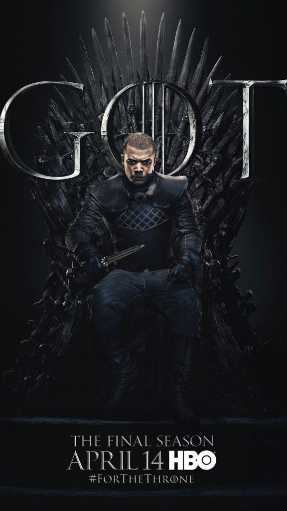 Grey Worm GOT Season 8 character poster