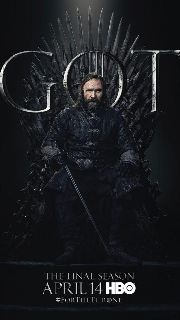 Sandor Clegane Hound GOT Season 8 character poster