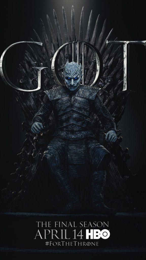 Night King Sandor Clegane Hound GOT Season 8 character poster