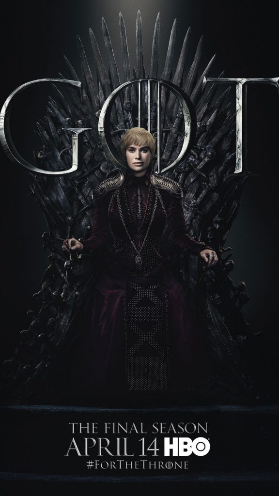 Cersei Lannister GOT Season 8 character poster