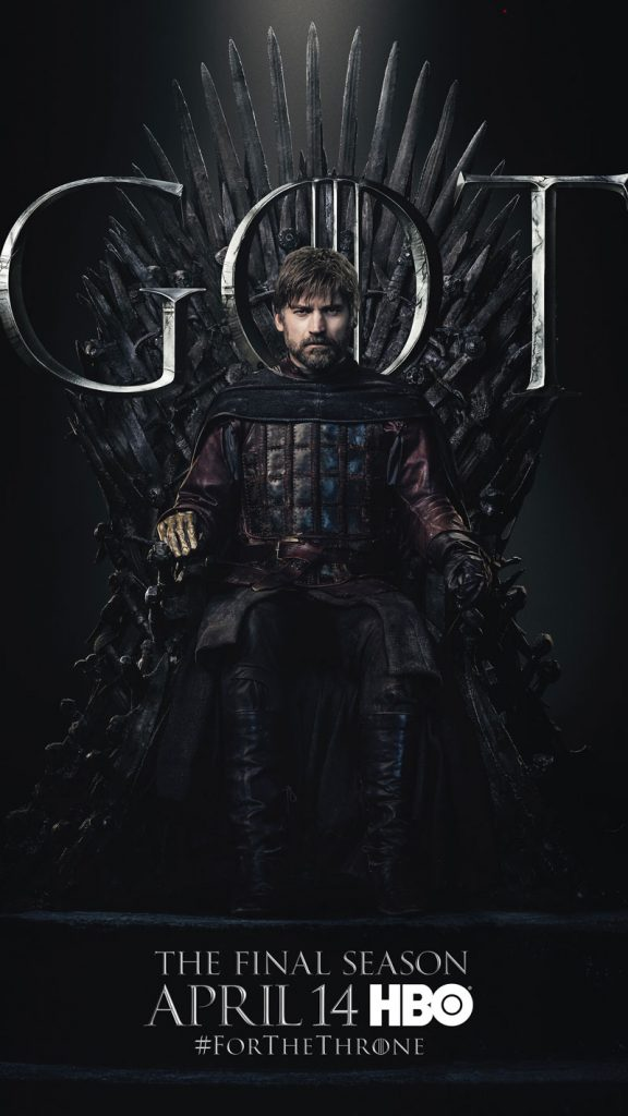 Jaime Lannister GOT Season 8 character poster