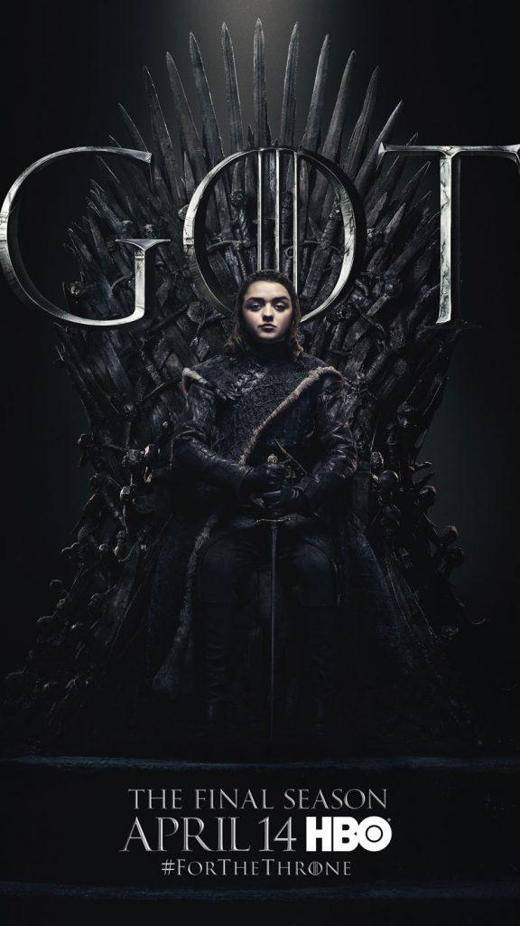Arya Stark GOT Season 8 character poster