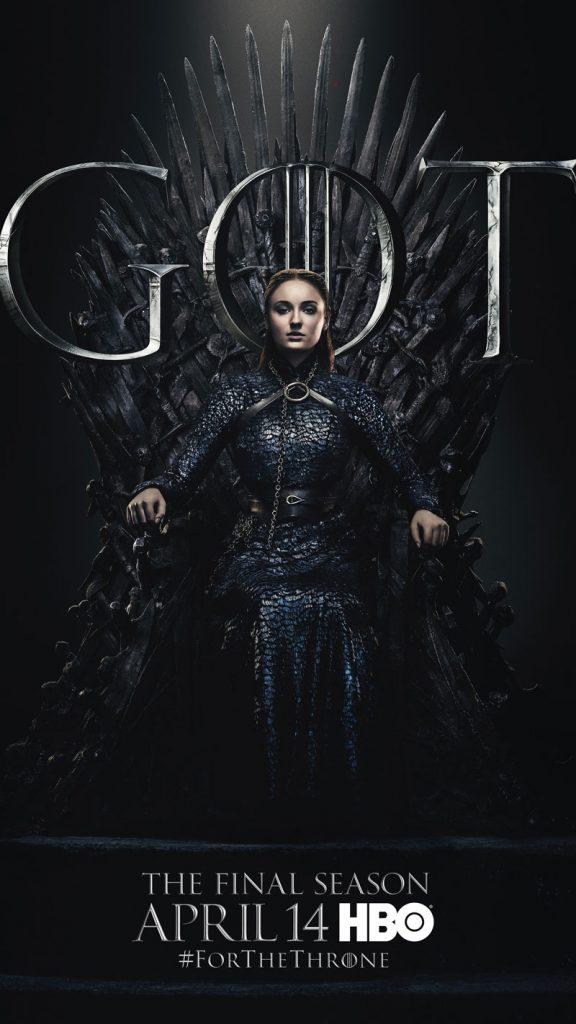 Sansa Stark GOT Season 8 character poster