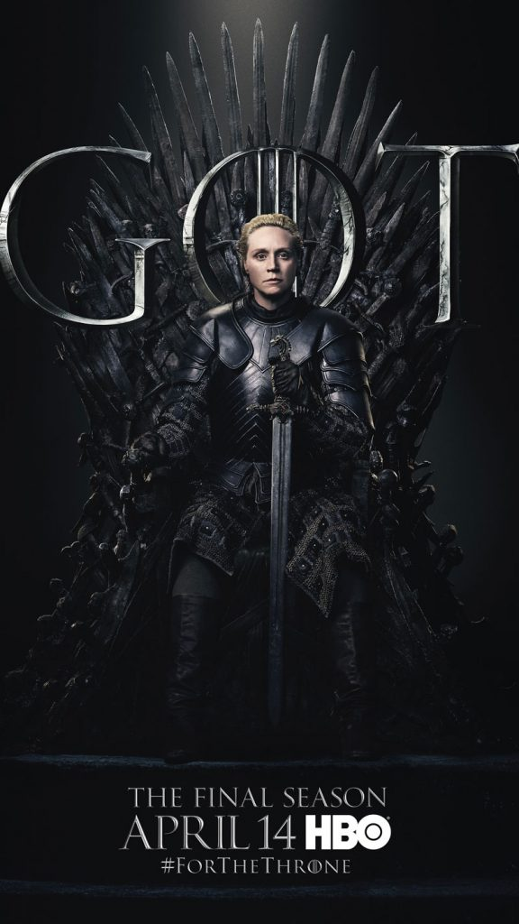 Brienne of Tarth GOT Season 8 character poster