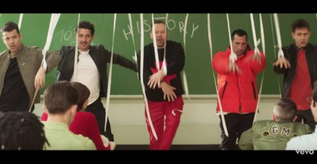 New Kids On The Block give a history lesson in boy bands in new video