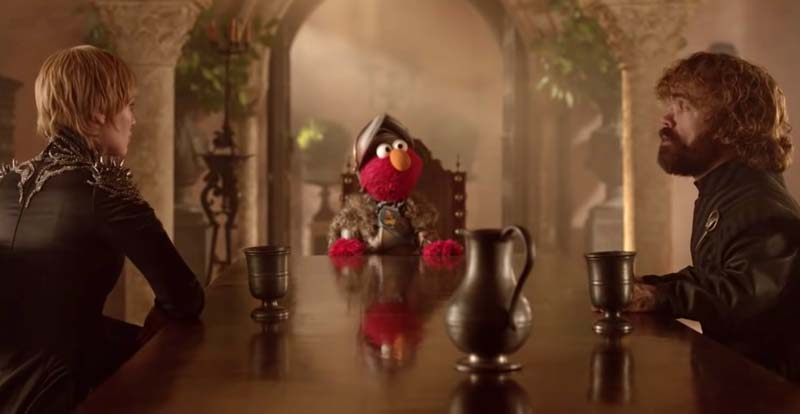 Elmo brings peace to Game of Thrones