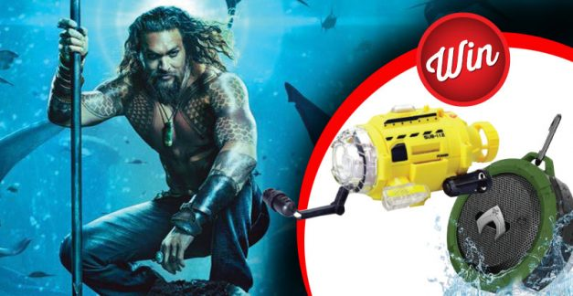 Win an Aquaman underwater camera and speaker