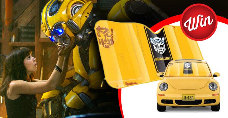 Win one of 15 Bumblebee car shades