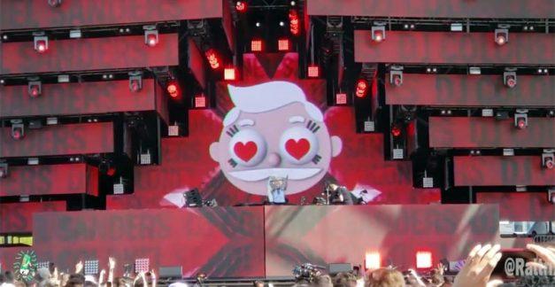 Watch DJ Colonel Sanders' disturbing Ultra set