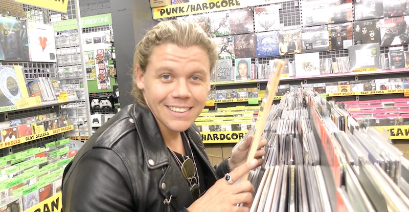 Vinyl shopping with Conrad Sewell