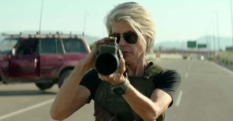 A first look at Terminator: Dark Fate crashes in
