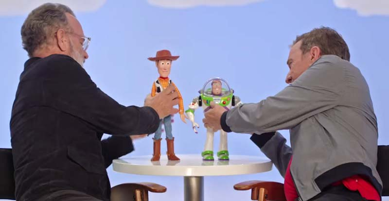 Tom Hanks and Tim Allen play with themselves for Toy Story 4