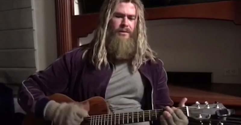 See Chris Hemsworth's Thor singing 'Hurt'