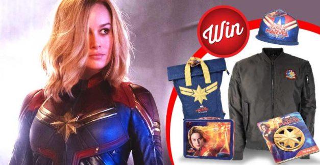 Win one of five marvellous Captain Marvel bundles