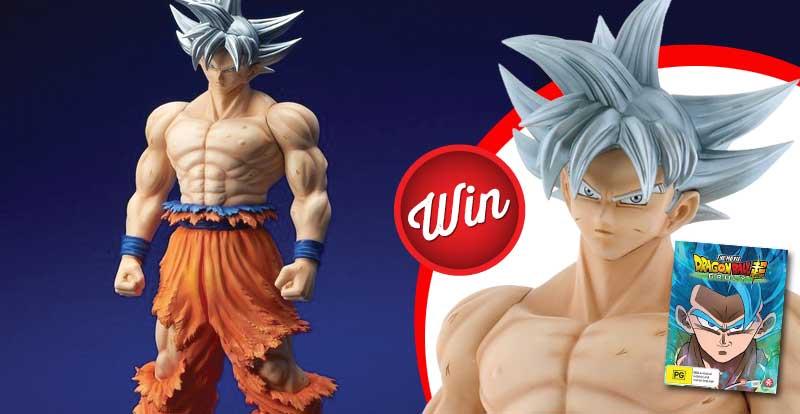 Score a gigantic Goku figure!