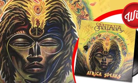 Win a Santana 'Africa Speaks' signed print, vinyl and guitar pick giveaway