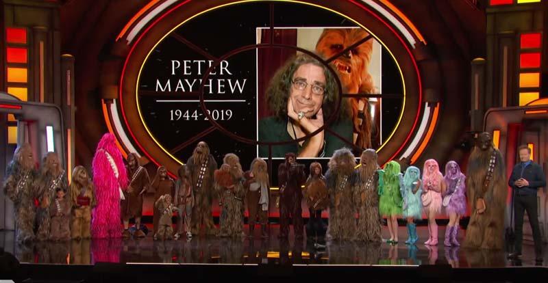 Conan's 21 Wookie salute to Peter Mayhew