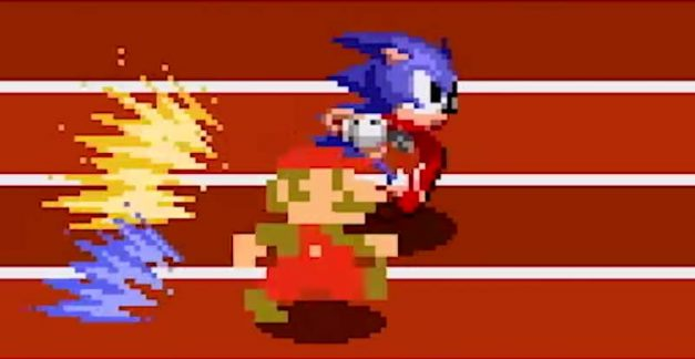 Mario & Sonic at the Olympic Games going classic 2D