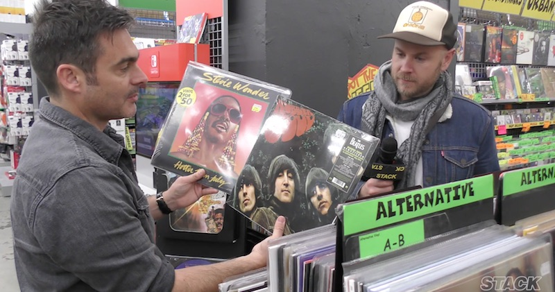 Vinyl shopping with Boy & Bear