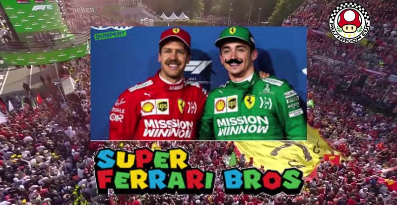 Mama mia, it's Super Ferrari Bros!