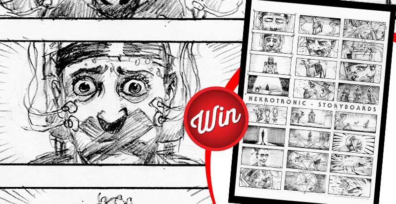 Six signed Nekrotronic storyboards to win