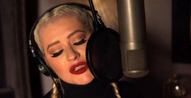 Christina Aguilera gets her Addams Family on