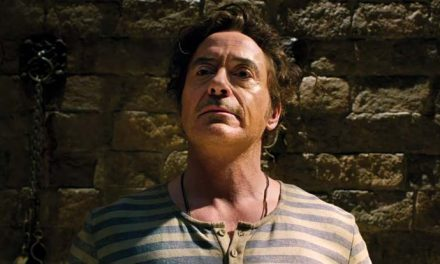 Robert Downey Jr talks to the animals in Dolittle