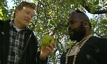 Picking (on) apples with Mr T