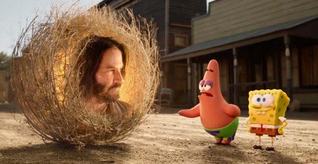 Keanu rolls into the new SpongeBob movie