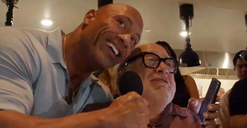 Dwayne Johnson and Danny DeVito, wedding crashers…