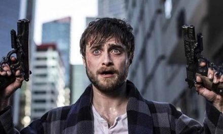 Daniel Radcliffe gets all up in arms in Guns Akimbo