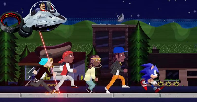 Wiz Khalifa and pals get their Sonic on