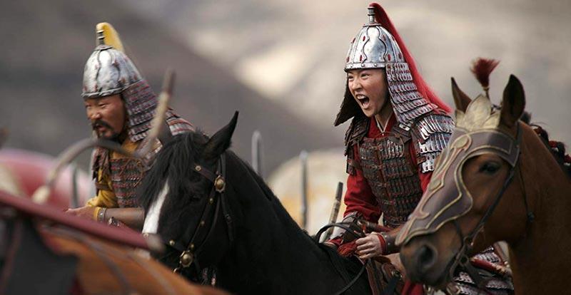 The stunning stunts of Mulan