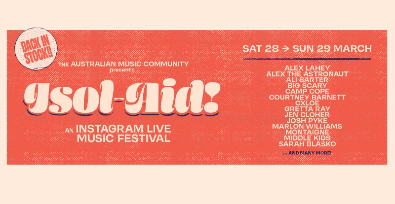 ISOL-AID drop second line-up feat. Courtney Barnett, Marlon Williams and more