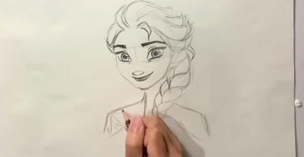 Keep your kids busy drawing Frozen faves