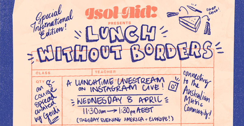 Do Wednesday lunch with Isol-Aid