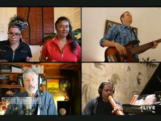 Vika and Linda Bull, Shane Howard, Will Barton, MFTHF