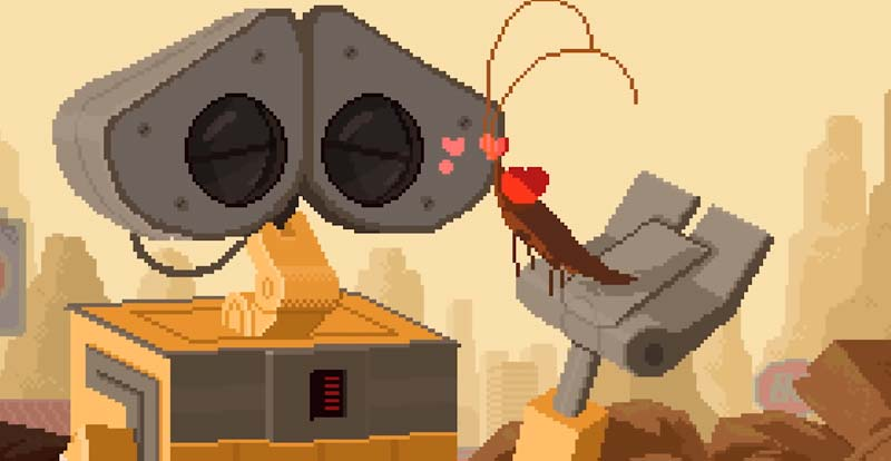 WALL·E goes 16-bit!