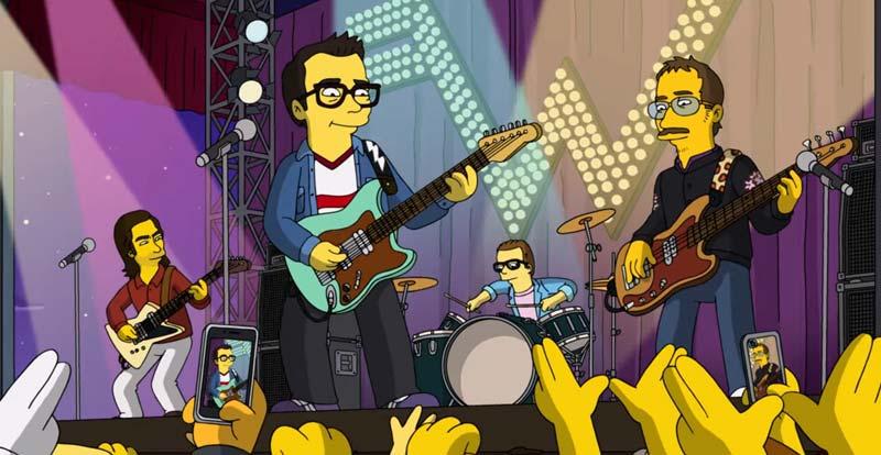 Weezer rock The Simpsons theme!